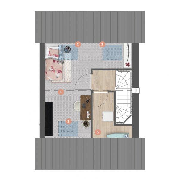 Hoekwoningen | Type D, bouwnummer