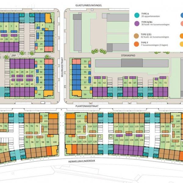 Rij- en hoekwoningen | Type E en E1, bouwnummer