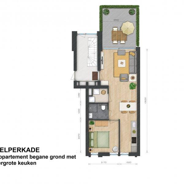 Helperkade - Appartementen, bouwnummer 1