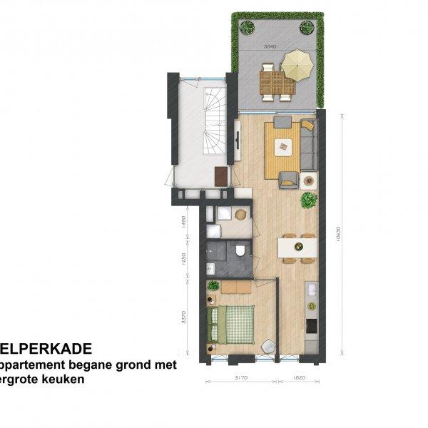 Helperkade - Appartementen, bouwnummer 2