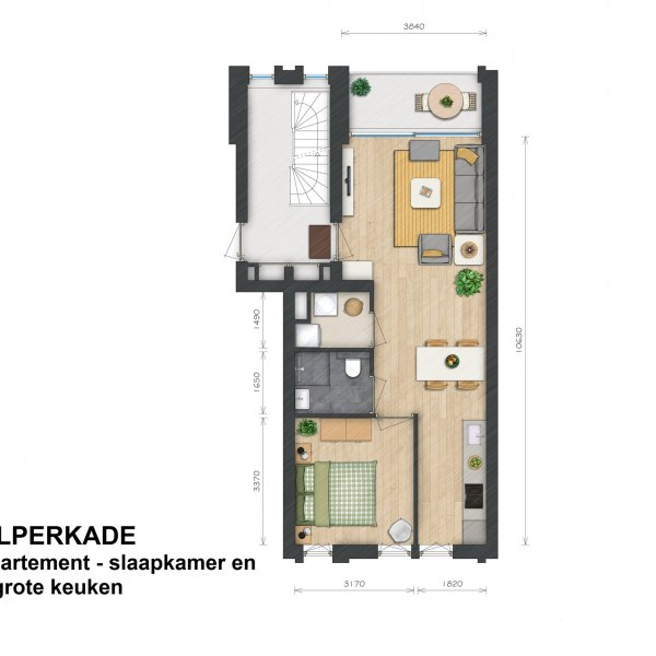 Helperkade - Appartementen, bouwnummer 8