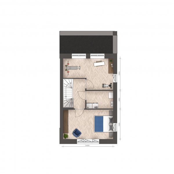 Signatuur - 2/1 kap woningen, bouwnummer 19