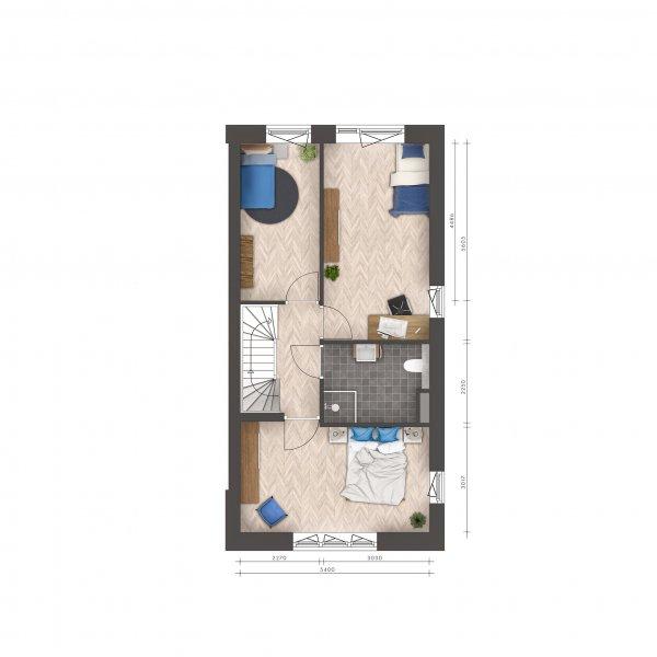Signatuur - 2/1 kap woningen, bouwnummer 20