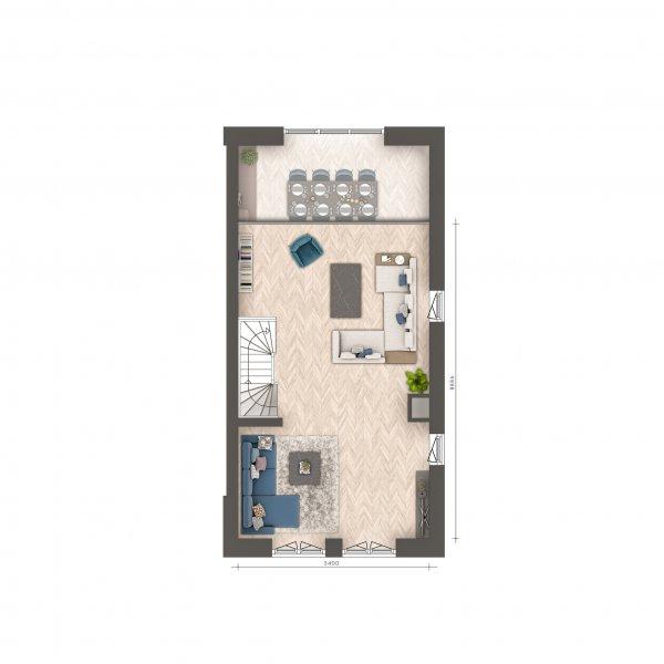 Signatuur - 2/1 kap woningen, bouwnummer 21
