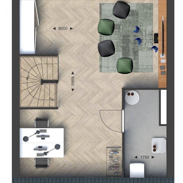 Beneden- / Bovenwoningen, bouwnummer 19