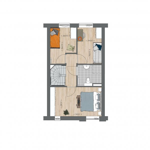 Tussenwoningen type B - Koning Arthurlaan, bouwnummer 8