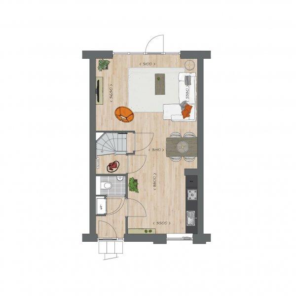 Tussenwoningen type B - Koning Arthurlaan, bouwnummer 15