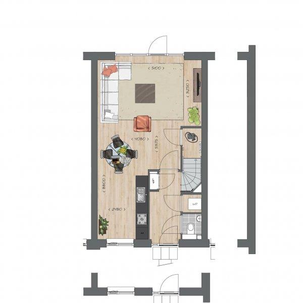Tussenwoningen type C - Koning Arthurlaan, bouwnummer 3