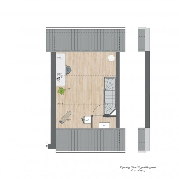 Tussenwoningen type C - Koning Arthurlaan, bouwnummer 9