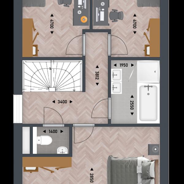 Het Goudse Hart - twee-onder-één-kapwoning, bouwnummer 19