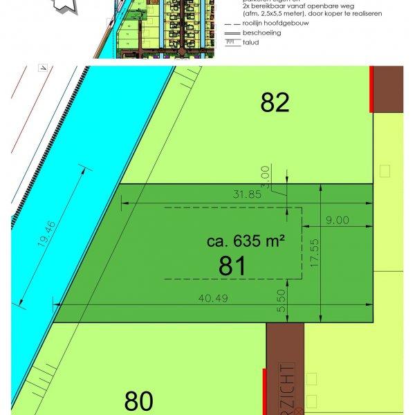 6 Vrije Bouwkavels (73, 78-82), bouwnummer 81