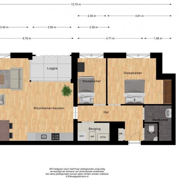 Pakhuizen 2 ''King's Court'', bouwnummer 24