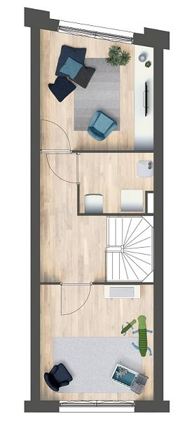 Herenhuizen - doorsteek, bouwnummer 22
