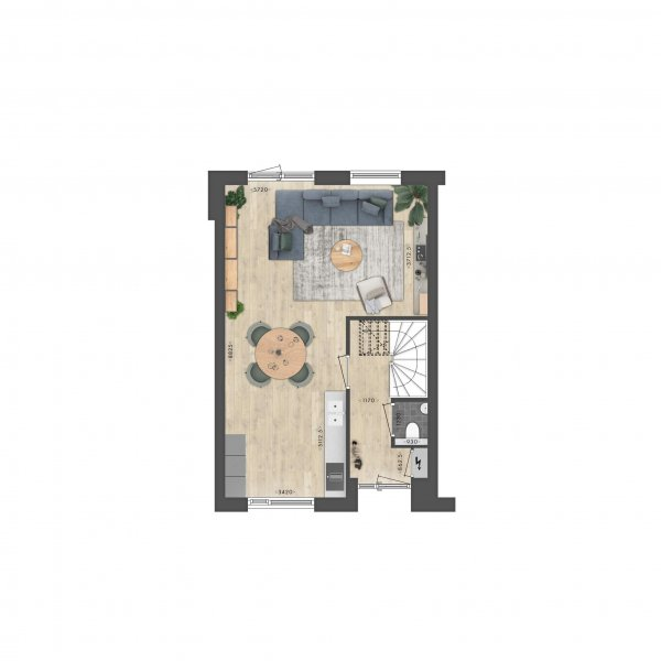 Fokkemast   Driemaster hoekwoning, bouwnummer 14