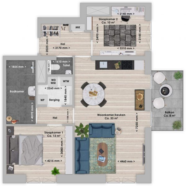De Houttuin fase 2 Naga, 3-kamer 79 m², bouwnummer 257