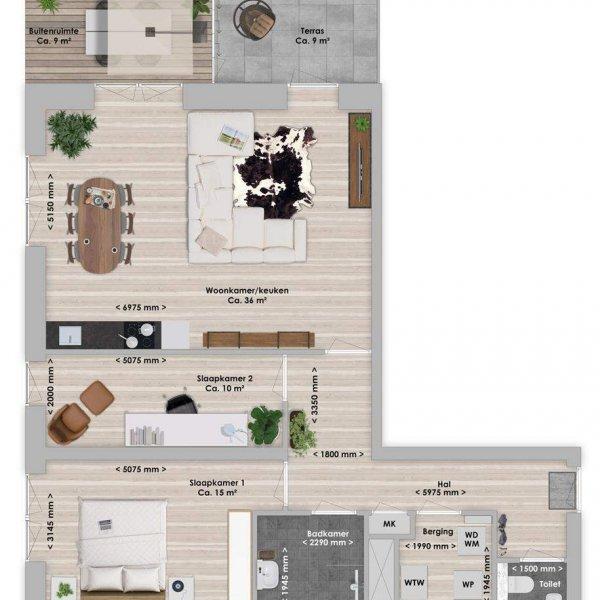 De Houttuin fase 2 Limba, 3-kamer 86 m², bouwnummer 265