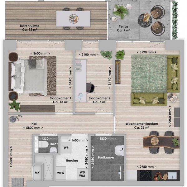 De Houttuin fase 2 Danta, 3-kamer 67 m², bouwnummer 226