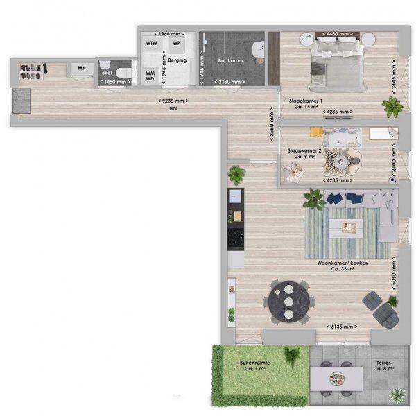De Houttuin fase 2 Essia, 3-kamer 83 m², bouwnummer 250