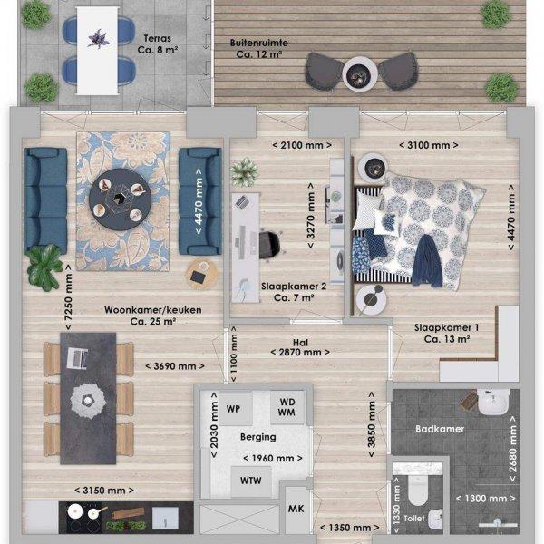 De Houttuin fase 2 Balau, 3-kamer 65 m², bouwnummer 264