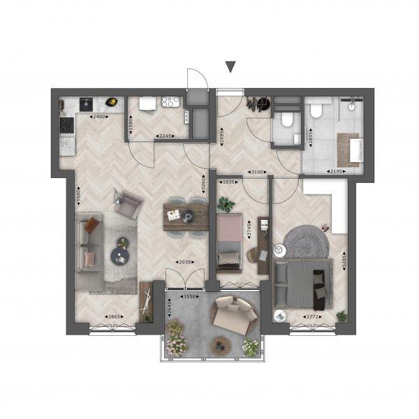 Bakdekker (78 m²), bouwnummer 3