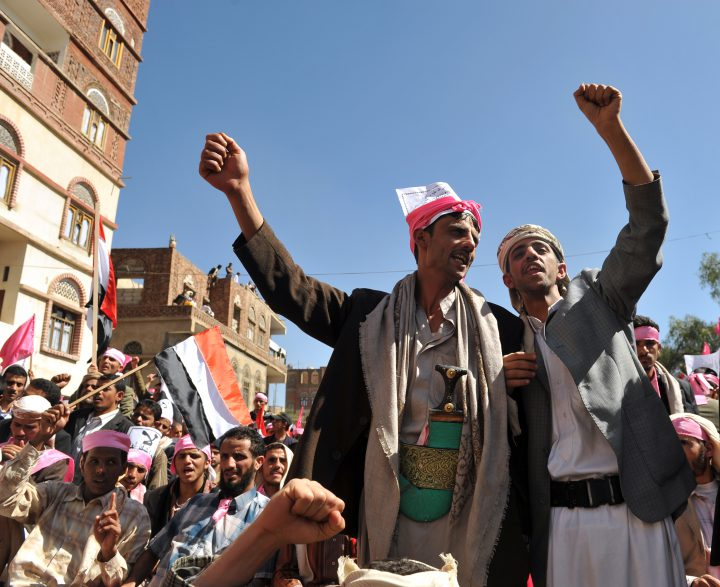 Arab Reform Initiative - Thousands of Yemeni protesters called on Yemeni President Ali Abdullah Saleh to step down