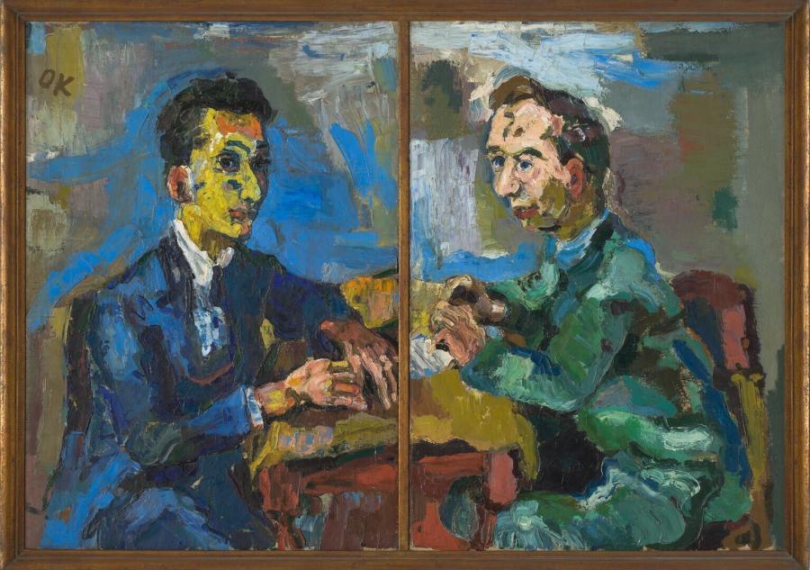 Double Portrait of Hans Mardersteig and Carl Georg Heise