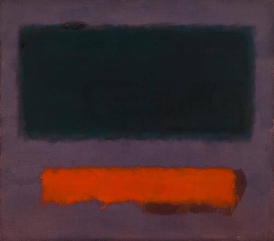 Grey, Orange on Maroon, No. 8 (Grijs, oranje op kastanjebruin, nr. 8)