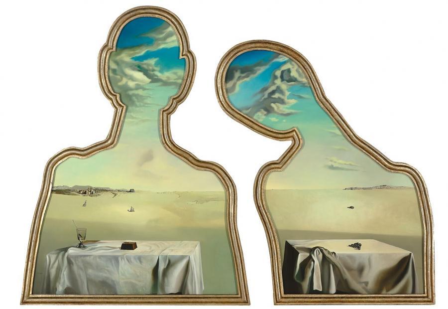 Couple aux têtes pleines de nuages (Een paar met het hoofd vol wolken)