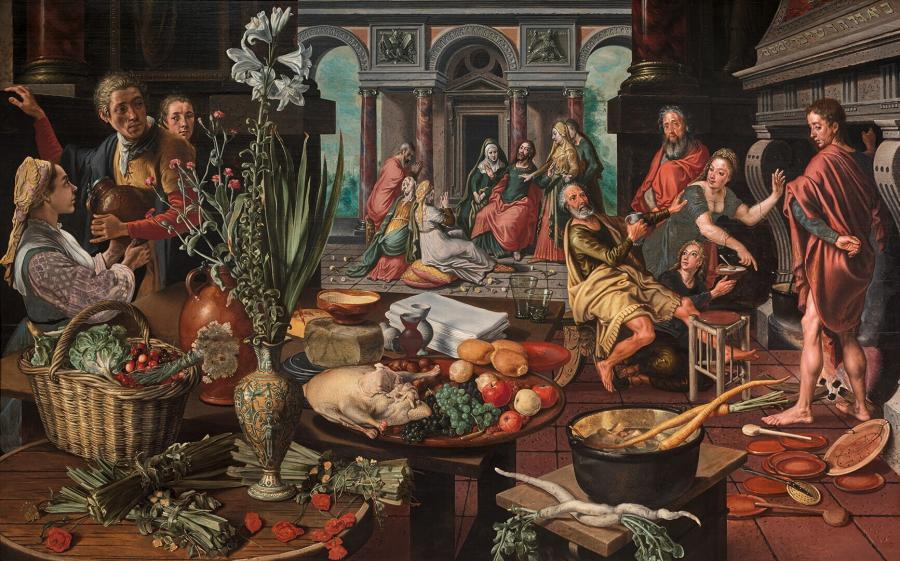 Christus in het huis van martha en maria museum boijmans van beuningen