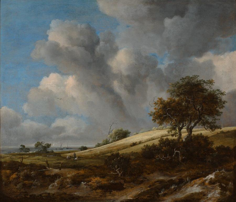 Het korenveld, op de achtergrond de Zuiderzee
