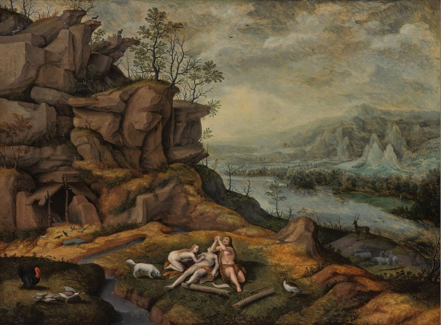 Landscape with Adam and Eve, Lamenting over the Dead Body of Abel