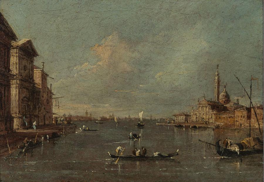 Gezicht op de S. Giorgio Maggiore, Venetië