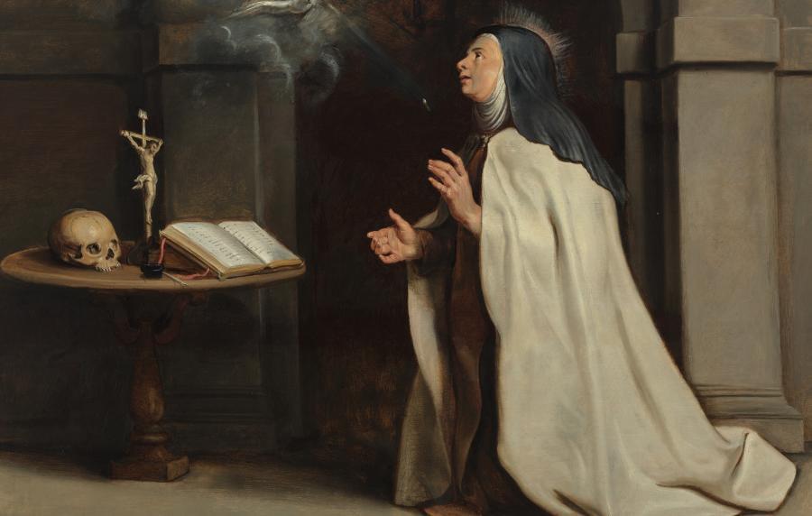 Het verschijnen van de Heilige Geest aan de Heilige Teresa van Avila