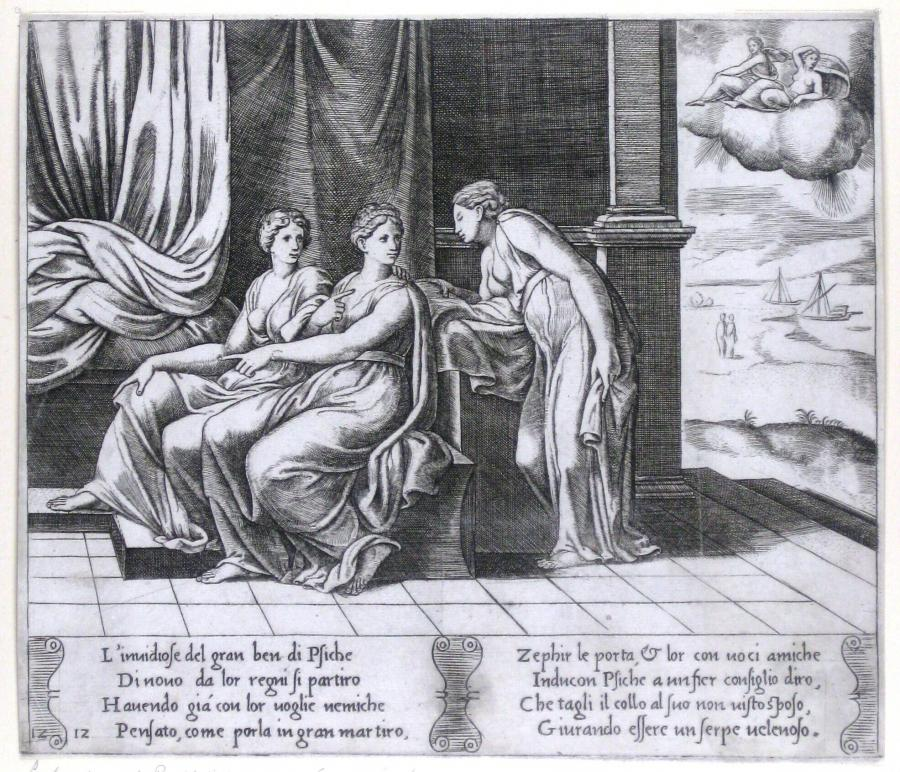 Psyche Sister's Persuade Her that a Serpent Is Sleeping with Her