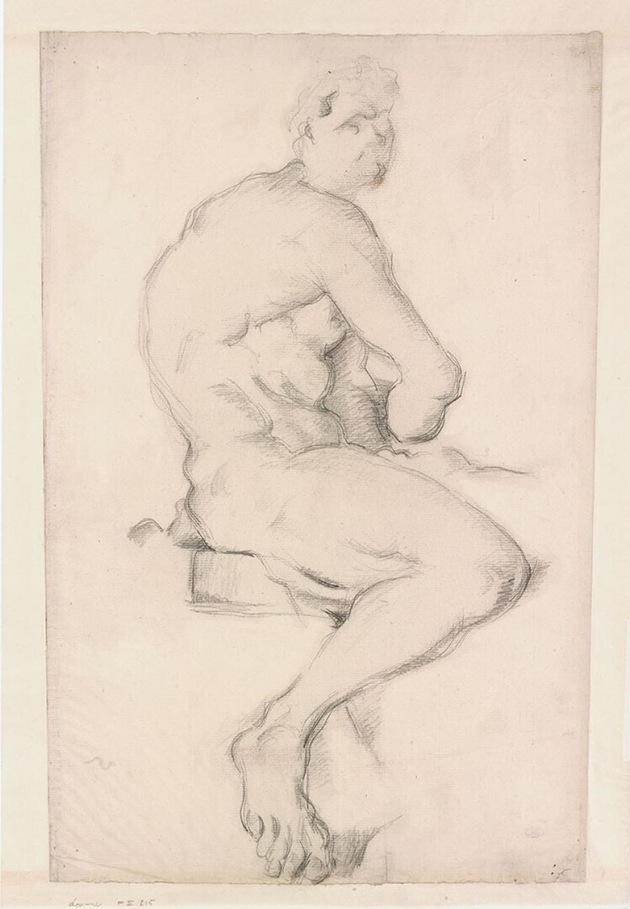 Studie naar de Hercules sculptuur van Pierre Puget in het Louvre