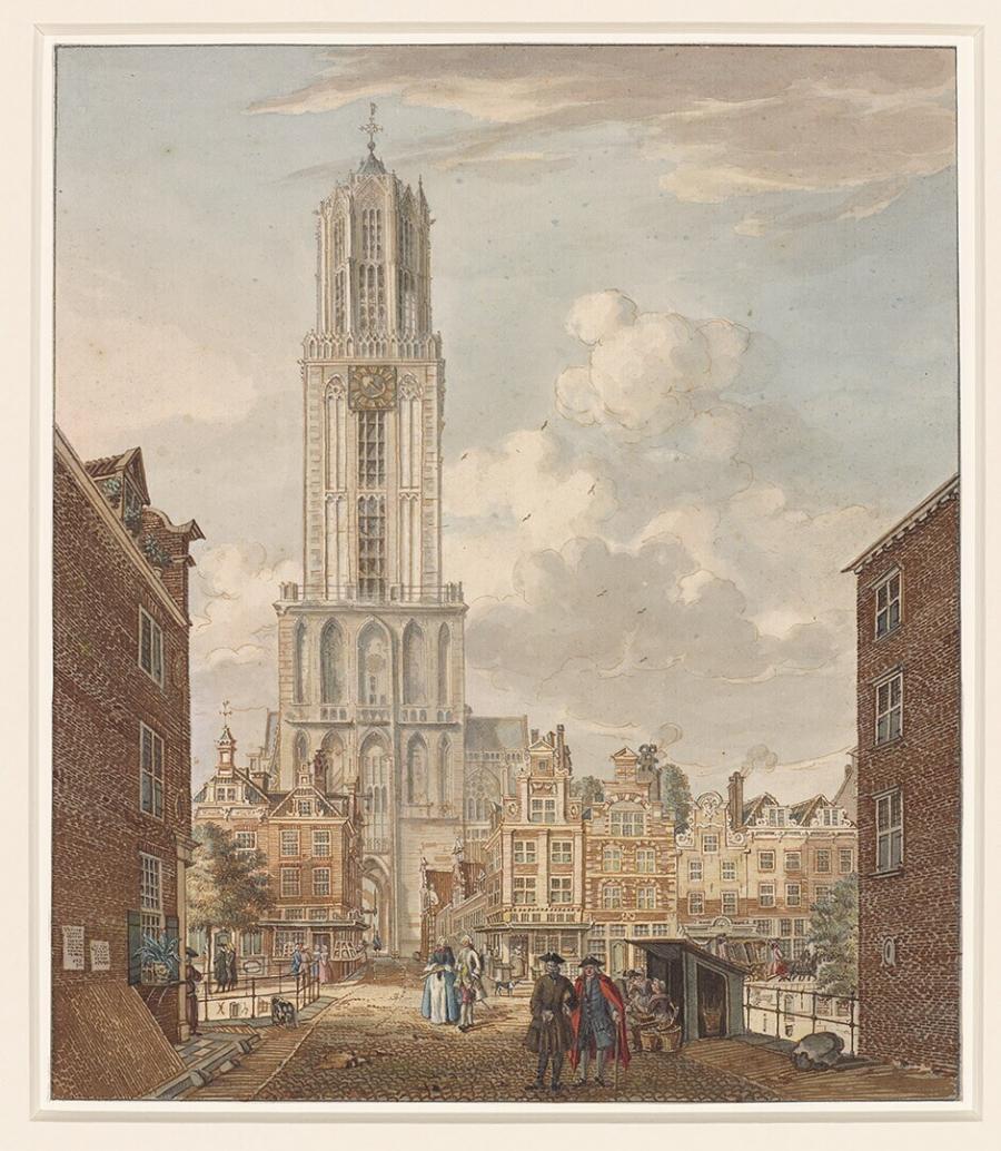 Gezicht op de Domtoren te Utrecht