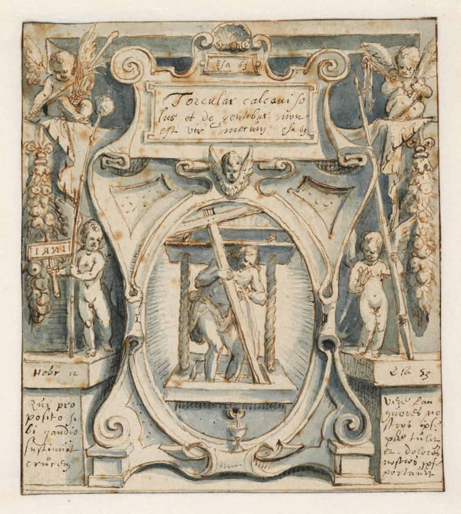 Christ in the Wine Press (Title Plate)