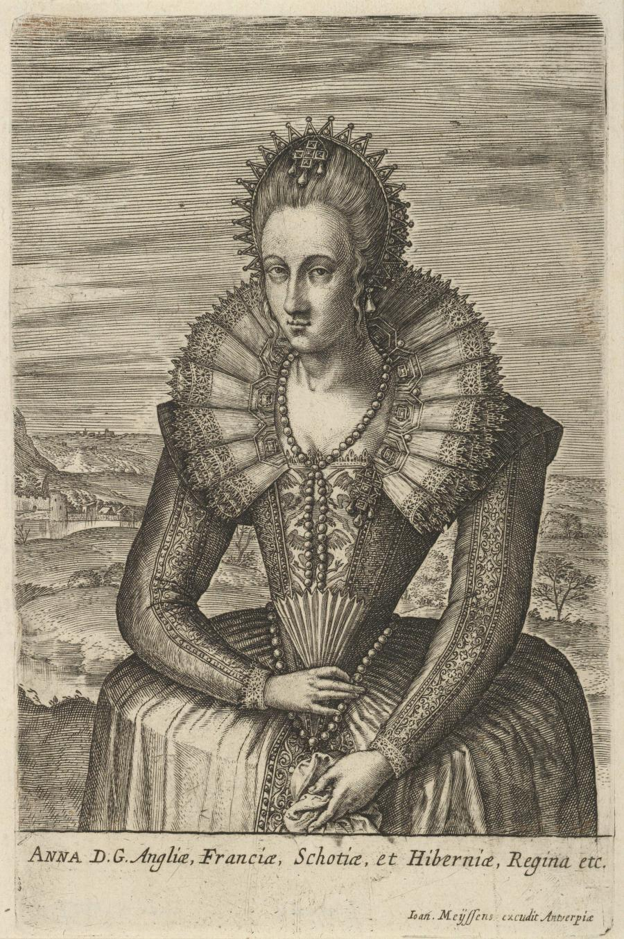 Portrait of Anne of Denmark, Queen of England
