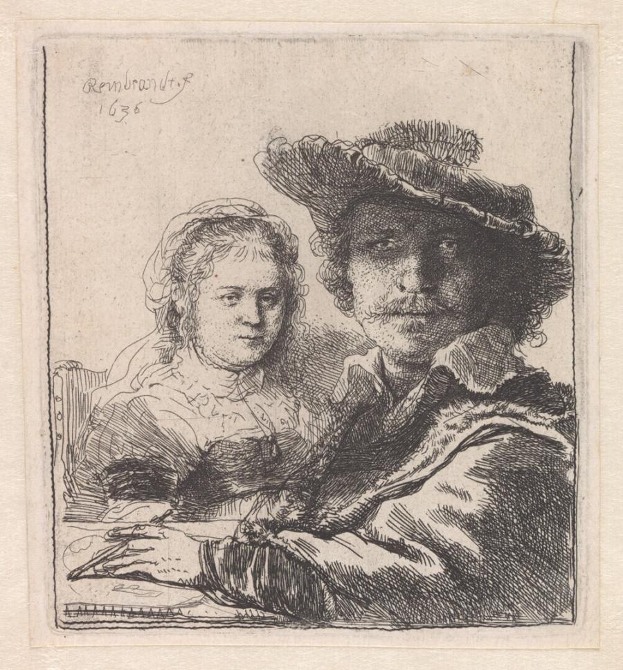 Zelfportret met Saskia