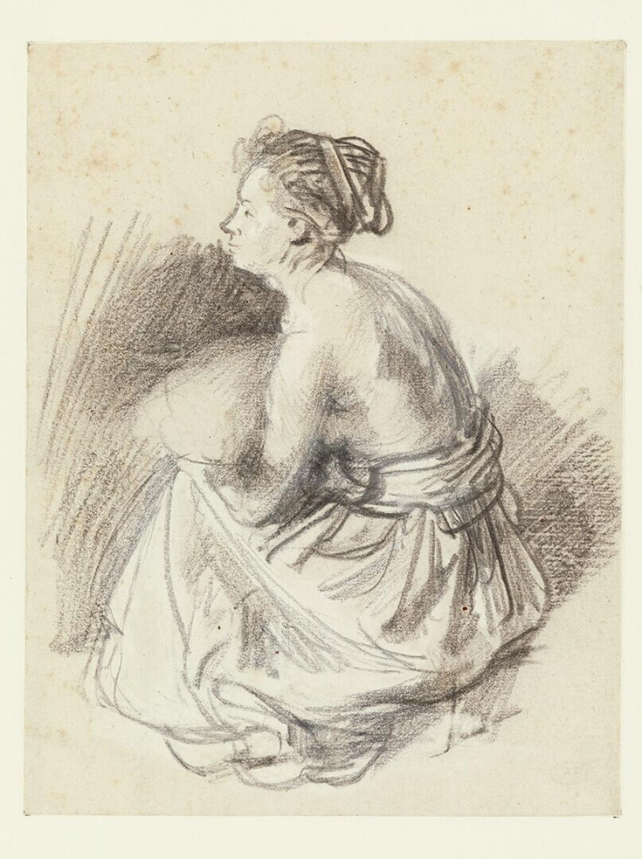 Seated Woman, Naked to the Waist