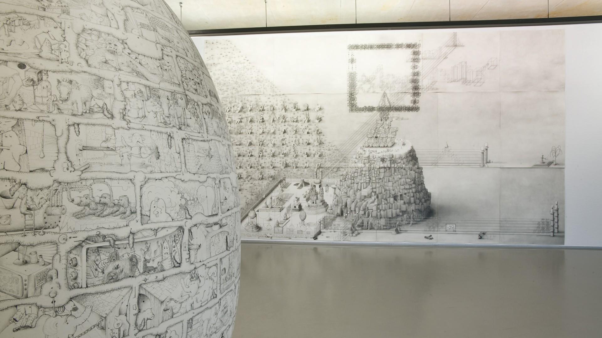Hedendaagse tekenkunst aanwinstenpresentatie museum boijmans van