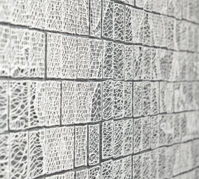 Detail of Isabel Ferrand's World Lace, 2013. Photo: Gyeonggi Ceramic Biennale, South Korea