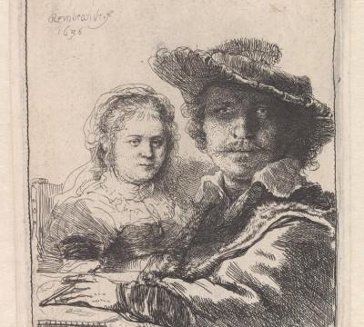 Rembrandt van Rijn, Zelfportret met Saskia, 1636, Museum Boijmans Van              Beuningen, Rotterdam / Creditline fotograaf: Rik Klein Gotink, Harderwijk