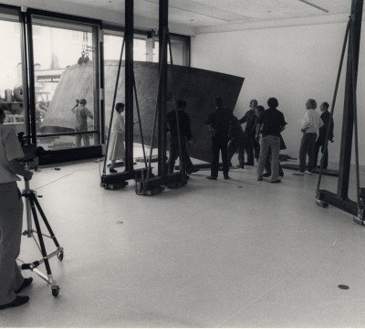 Richard Serra: installation, 1980. Photo: Dick Wolters, Rotterdam