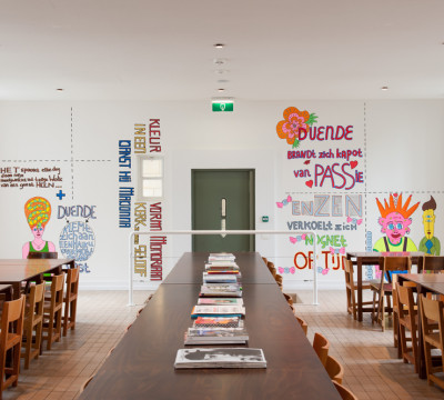 Pam Emmerik, design for wall painting 'Duende Too', 2013. Photo: Lotte Stekelenburg.