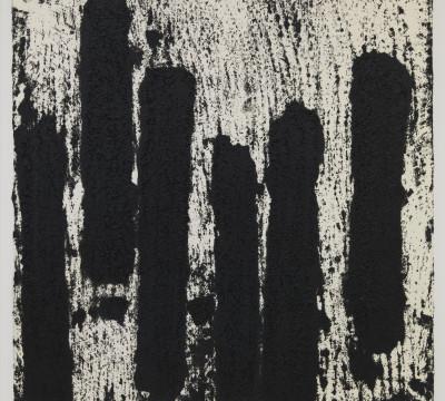 """Richard Serra: Rotterdam Vertical #10, 2016 Etsinkt, silica, en verfstift op handgemaakt papier 39 x 39¼"""" (99.1 x 99.7 cm) C/o Pictoright Amsterdam, 2017"""