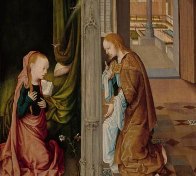 Meester van de Virgo inter Virgines, De verkondiging aan Maria, Museum Boijmans Van Beuningen
