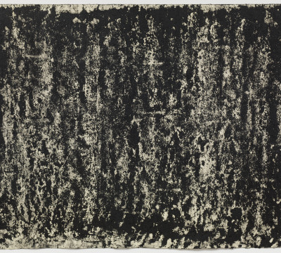 """Richard Serra: Composite 1-9, 2016. Etching ink, silica and litho crayon on paper 31 x 39¾"""" (78.7 x 101 cm)  C/o Pictoright Amsterdam, 2017."""
