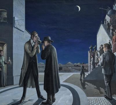 Paul Delvaux, Les phases de la lune III (The phases of the moon III), 1942. Museum Boijmans Van Beuningen, Rotterdam, photo: Studio Tromp, Rotterdam, © Pictoright Amsterdam 2017