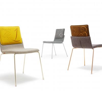 A. Bernotat, limited-edition Triennial Chair for the Milan Furniture Fair, 2012, steel and textile, Gispen | photo: Chris van Koeverden.